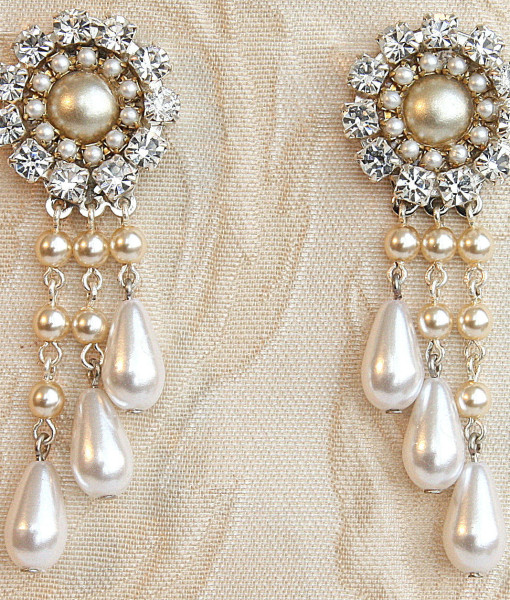 Bridal Victorian Chandelier Earrings,Stunning Wedding,pearl – Laury