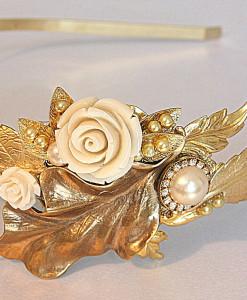 Bridal Headband Crown,Queen headband,Victorian era - Romi