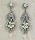 Chandelier Earrings Vintage style, Rhinestone earrings,deco – Lia
