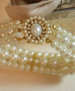 Wedding Pearl Bracelet,Bridal Statement,Swarovski,gold