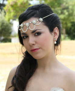 Wedding Headpiece pearls,Bridal headband,Rhinestones,1920s,wedding head piece