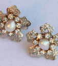 Real Pearls Rhinestone Earrings,Star Silver Earrings,Shinny - Birkin