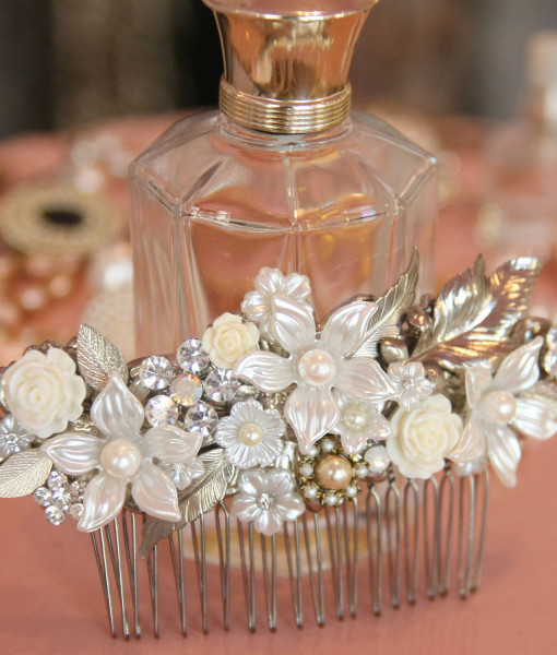 Wedding Flowered Hair Comb