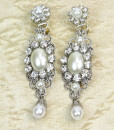 Wedding Chandelier Earrings,Luxurious,vintage Bridal earrings- Lila